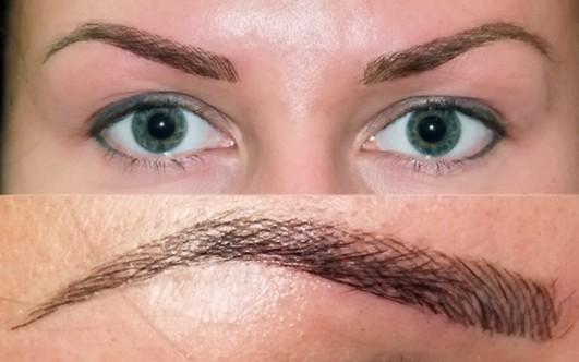 Сделать брови татуаж волосковый метод фото