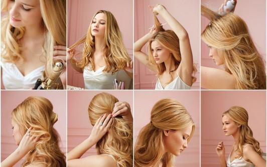 Вечерние причёски на средние волосы фото своими
