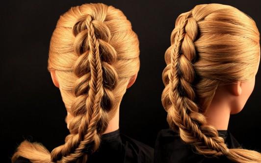 Прически на средние волосы косы видео