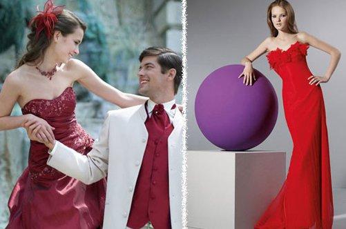 Что подобрать к красному свадебному платью