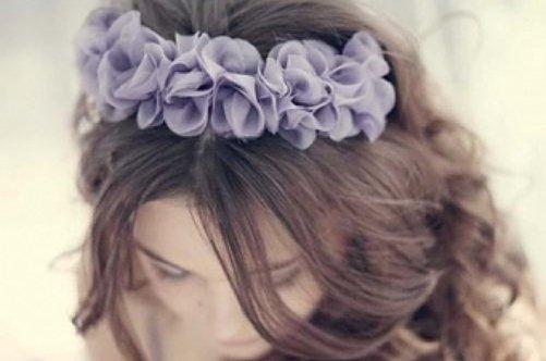 Ободки для волос с цветами своими руками фото 438