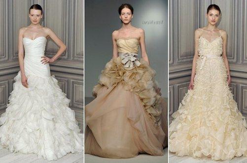 Свадебные платья цвет молоко