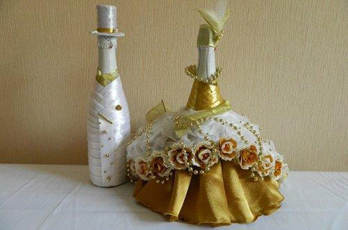 Как сделать шляпку на шампанское 4
