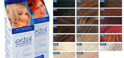 Эстель профессиональная краска для волос палитра фото