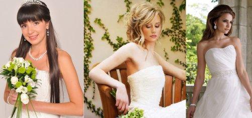 прически с прямыми волосами на свадьбу